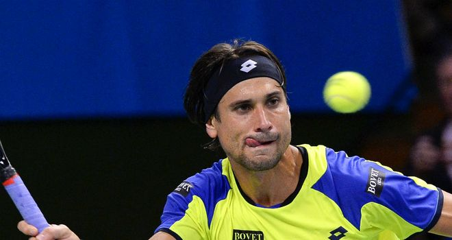 David Ferrer: Had no problems seeing off the challenge of Julien Benneteau