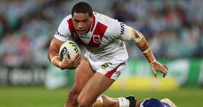 Tyson Frizell on the charge for St George Illawarra