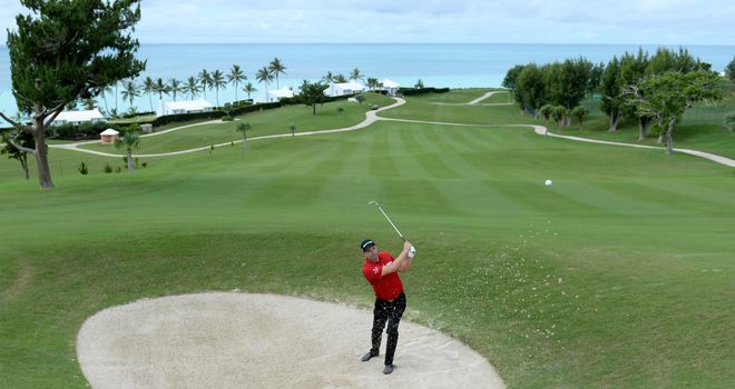 Padraig Harrington in action during a practice round on Sunday