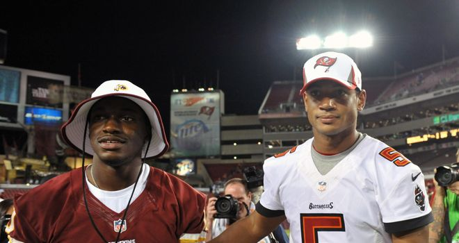 Quarterback Josh Freeman with the Tampa Bay Buccaneers
