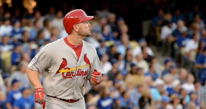 Matt Holliday hits a two-run home run for St Louis Cardinals
