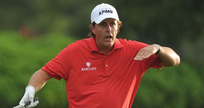Phil Mickelson in action during the CIMB Classic pro-am