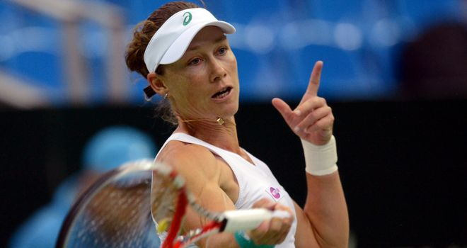 Samantha Stosur in action during her semi-final win