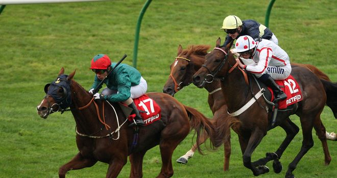 Waterclock (yellow cap) is an intended runner at Chester