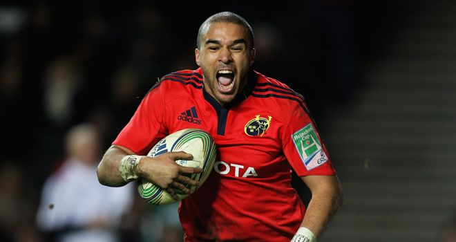 Simon Zebo: Left out of Ireland squad for clash against Scotland