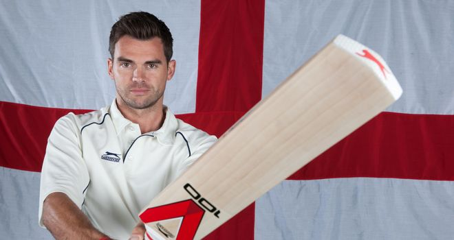 Jimmy Anderson at Lord's Cricket Ground for Slazenger (Picture courtesy of Mark Robinson)
