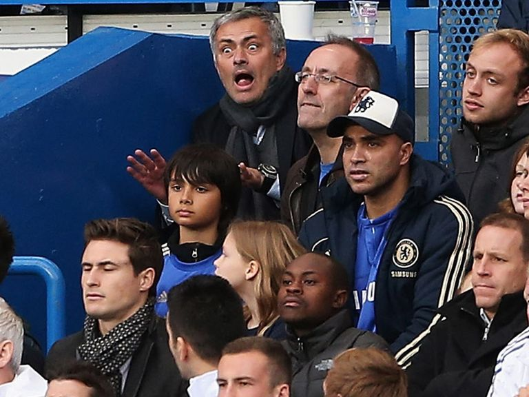 Jose Mourinho: Frustrated when forced to sit among the fans