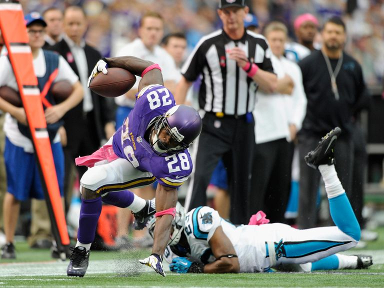 Adrian Peterson in action.