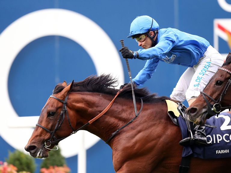 Farhh won a thrilling renewal of the Champion Stakes