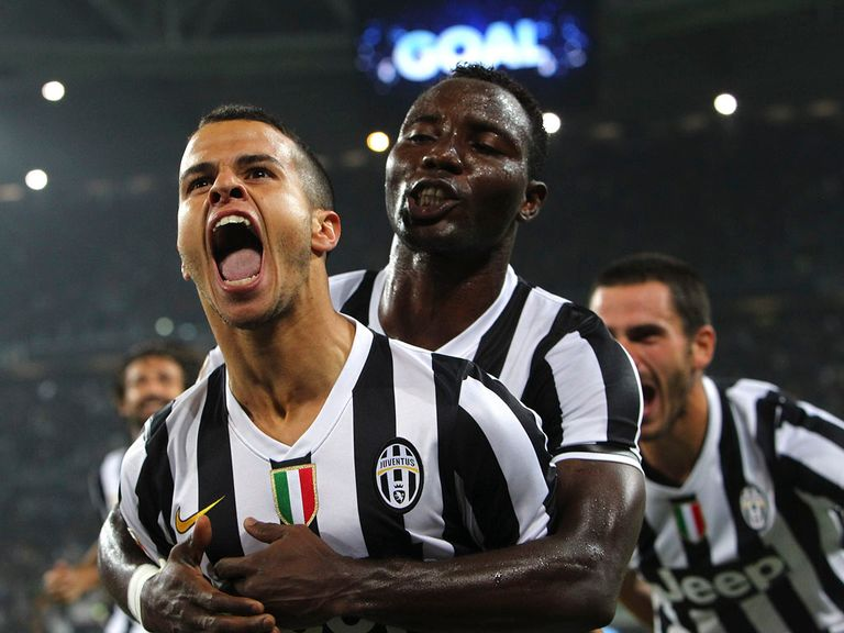 Juventus celebrate during their win over AC Milan