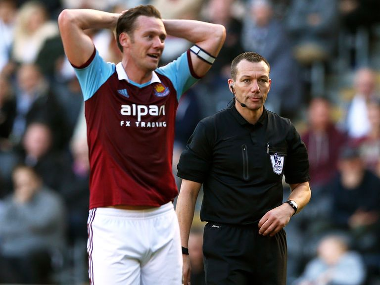 Kevin Nolan during West Ham's recent defeat at Hull