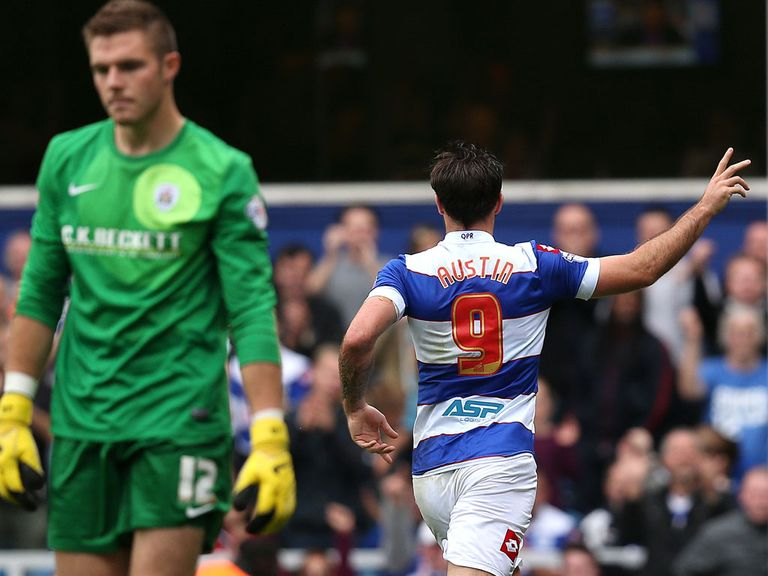 Charlie Austin netted both goals for QPR