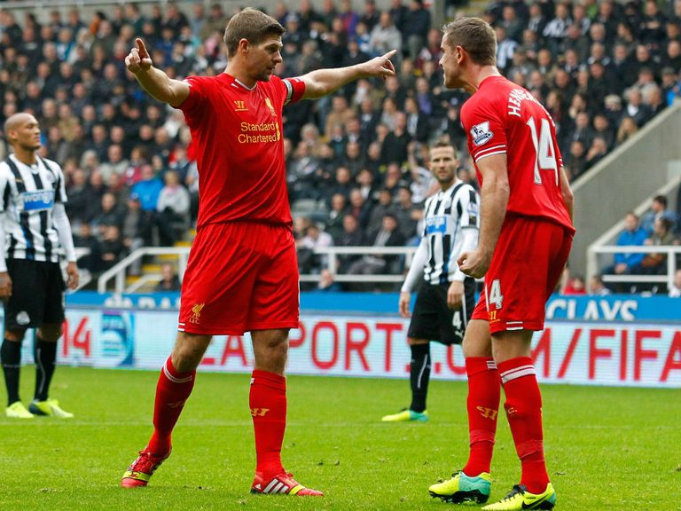 Steven Gerrard: Scored his 100th Premier League goal