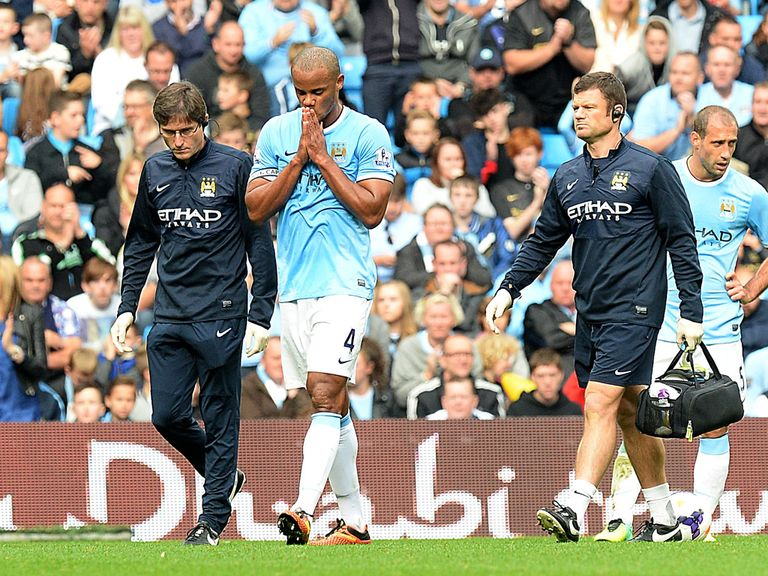 Vincent Kompany: Limped off at the weekend