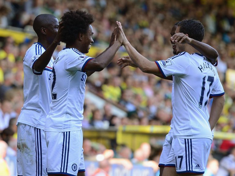 Willian: Netted his first Chelsea goal against Norwich