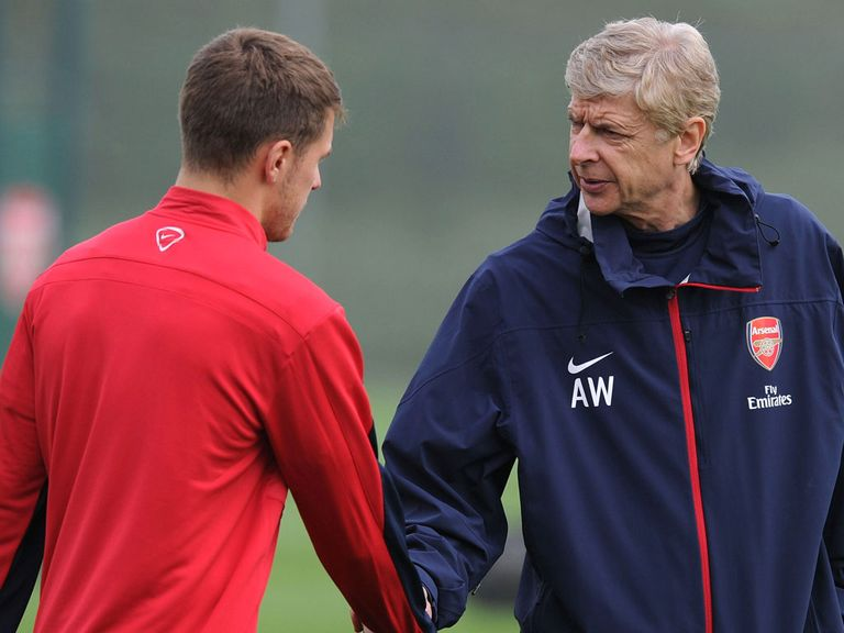 Aaron Ramsey and Arsene Wenger: Award winners for September
