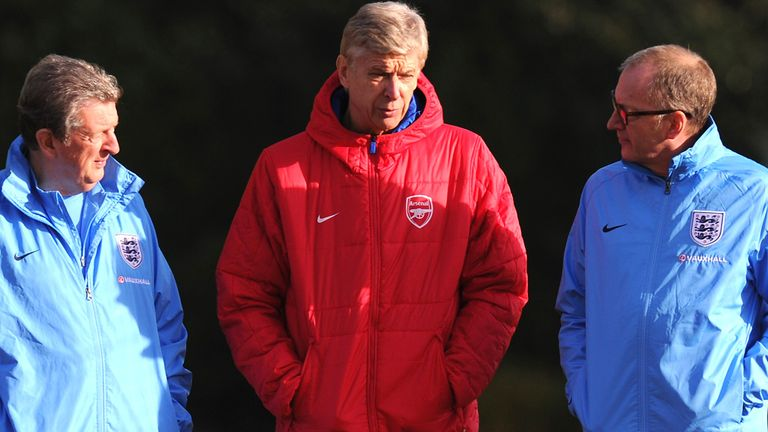 Arsene Wenger: With England coaches Roy Hodgson and Ray Lewington