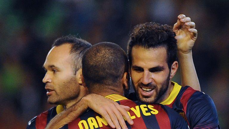 Cesc Fabregas: Celebrates one of his goals against Betis