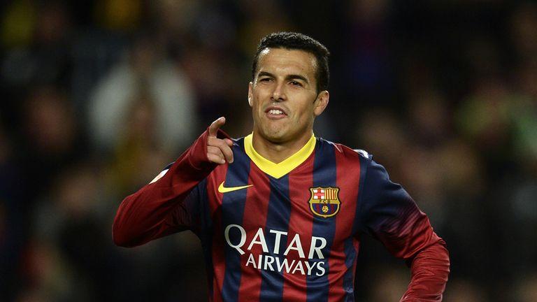 Pedro: Scored Barcelona's final goal against Granada