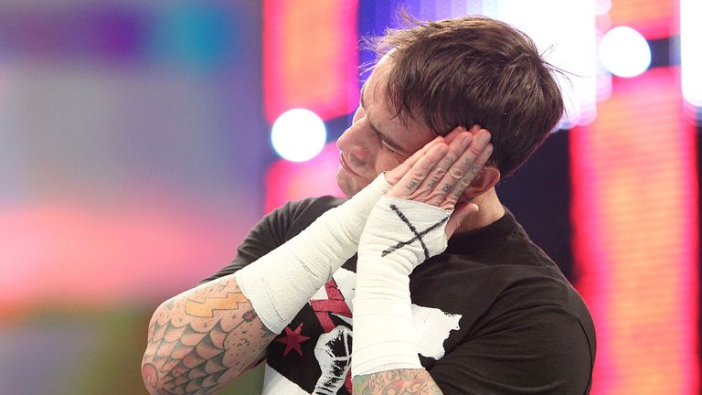 Punk: emerged victorious on a frantic edition of Smackdown