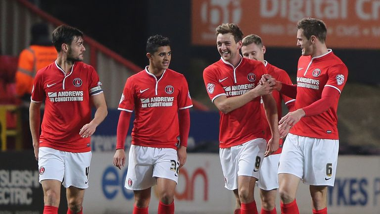 Dale Stephens: Celebrates his goal for Charlton