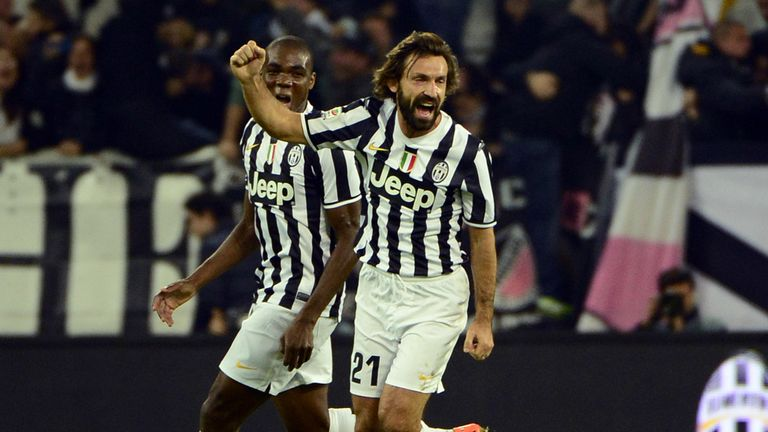 Andrea Pirlo: Enjoys his goal for Newcastle against Napoli