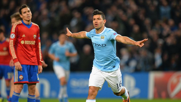 Sergio Aguero: Manchester City forward has bagged 13 goals so far this season