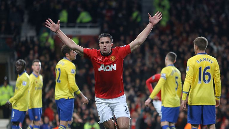 Robin van Persie ensured Arsenal's lead was trimmed at the Premier League summit
