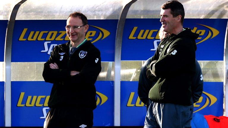 Martin O'Neill & Roy Keane: Oversaw first training session in Dublin