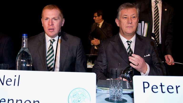 Peter Lawwell and Celtic manager Neil Lennon at club's AGM