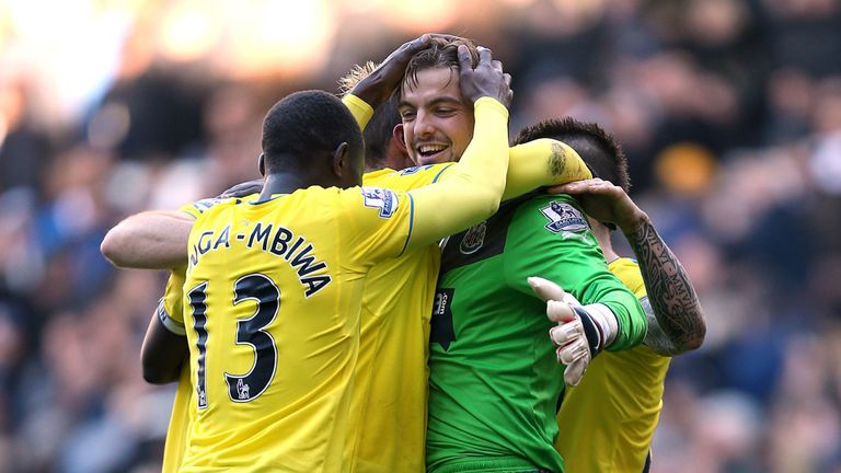 Tim Krul: Congratulated by his Newcastle defence on Sunday