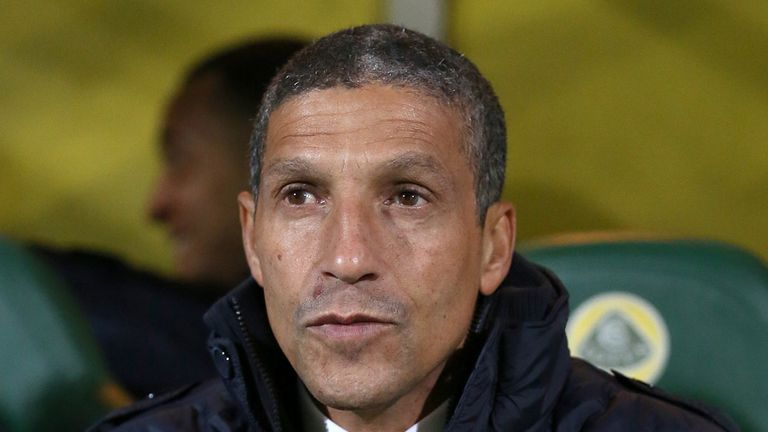 Chris Hughton: Praised his side for their solid second-half performance