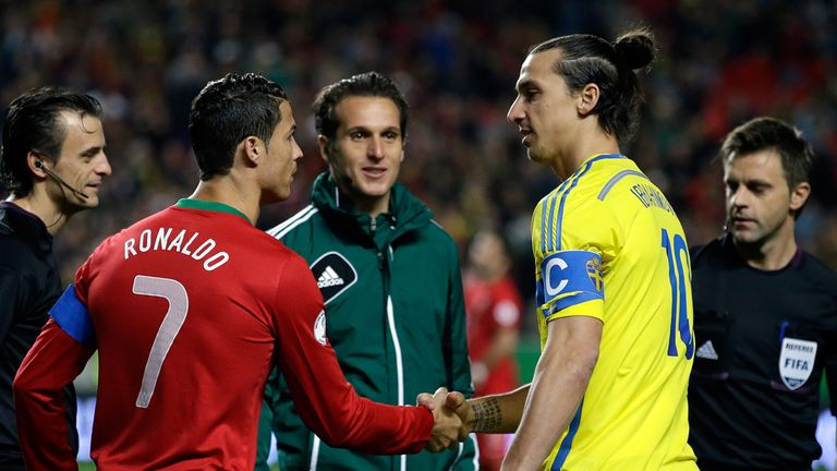 Zlatan Ibrahimovic (r): Won't be on the plane to Brazil next summer