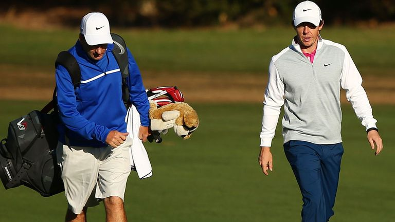 Rory McIlroy practising at Royal Sydney ahead of this week's Australian Open