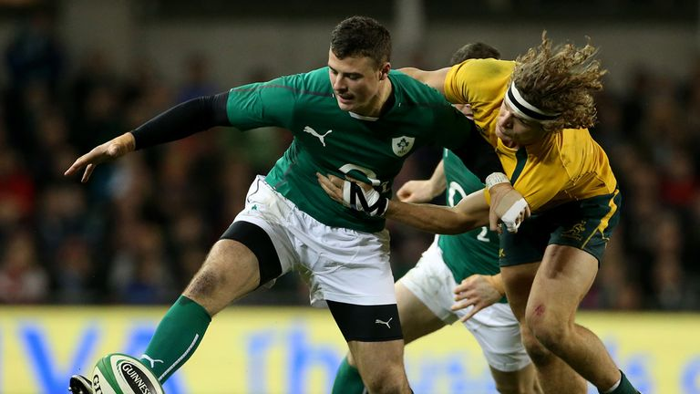 Robbie Henshaw, pictured playing for Ireland, has extended his contract with Connacht