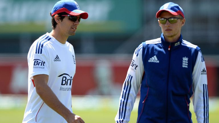 Root (R) could succeed Cook (L) as England captain at some stage