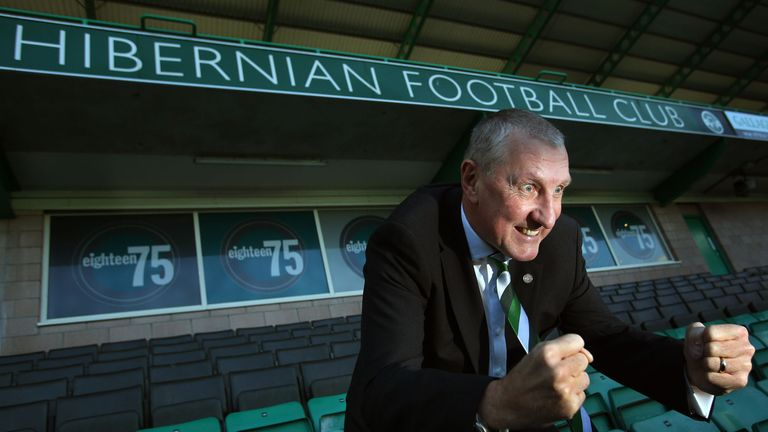 Butcher: in the dugout for Hibs this weekend.