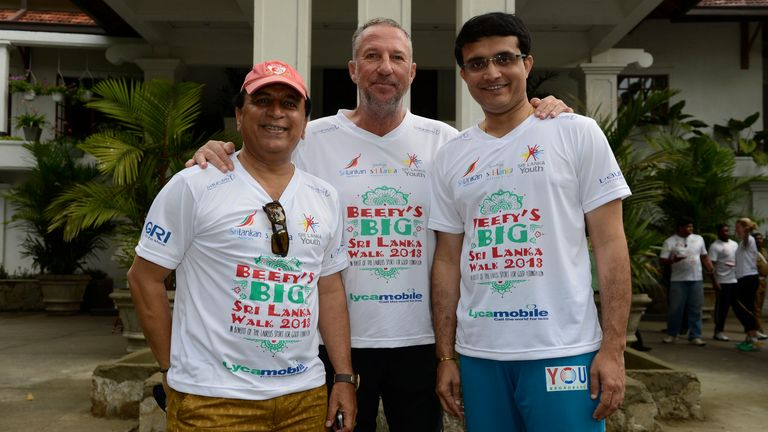 Sunil Gavaskar and Sourav Ganguly joined Beefy on day four