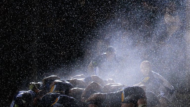 Heavy rain made life difficult for both sides at Sixways