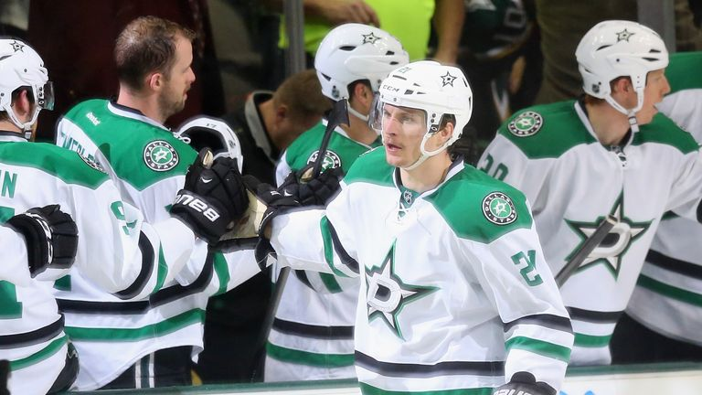 Antoine Roussel: Netted twice for the Dallas Stars