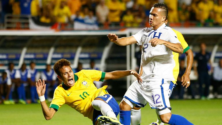 Arnold Peralta: Pulled no bunches in 'friendly' battle with Neymar