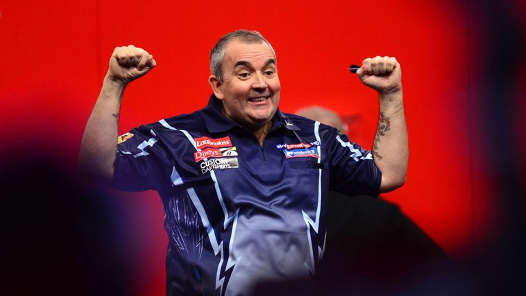 Phil Taylor: Made a flying start in his bid to win a fifth William Hill Grand Slam of Darts title