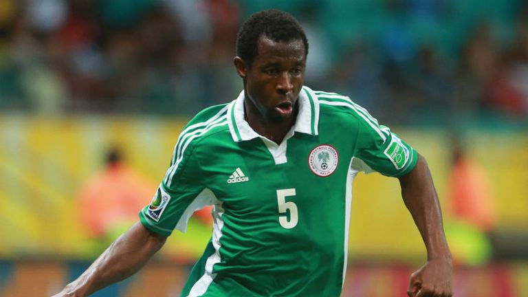 Efe Ambrose: Has helped Nigeria to book their place at Brazil 2014