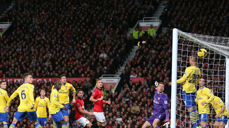 Robin Van Persie scores the only goal of the game