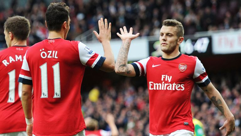 Jack Wilshere: Has enjoyed playing alongside Mesut Ozil