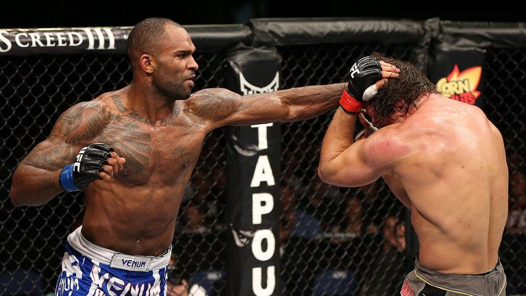 Jimi Manuwa (L): Will take on training partner Alex Gustafsson on March 8