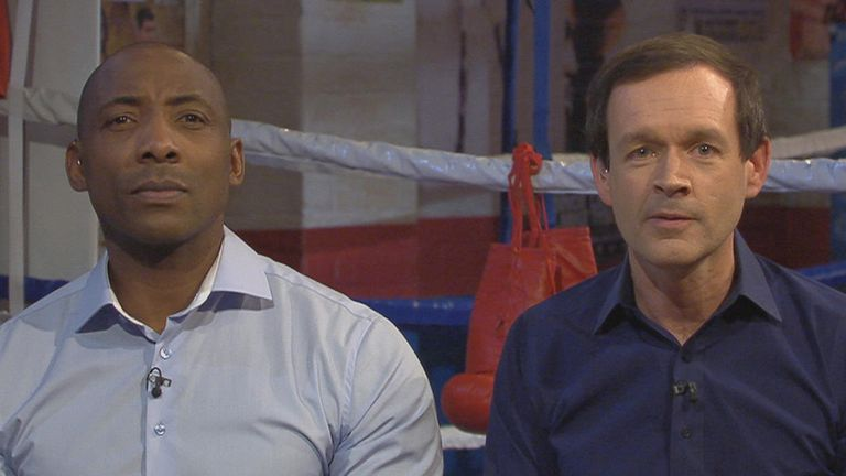 Adam Smith (right): On Ringside with co-host and fellow Scholars mentor Johnny Nelson