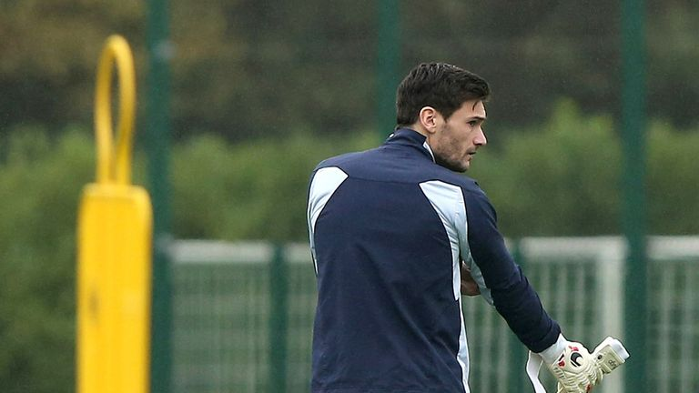 Hugo Lloris: Back in training after Goodison Park injury
