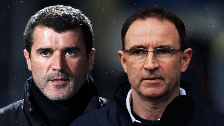 Martin O'Neill (right) With Ireland No 2 Roy Keane