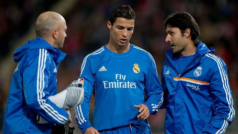 Cristiano Ronaldo: Limps out of the action against Almeria